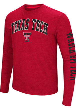 Colosseum Texas Tech Red Raiders Mens Red Jackson Tee