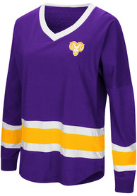 Colosseum West Chester Golden Rams Womens Marquee Purple LS Tee