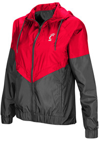 Cincinnati Bearcats Womens Colosseum First Class Windbreaker Light Weight Jacket - Black