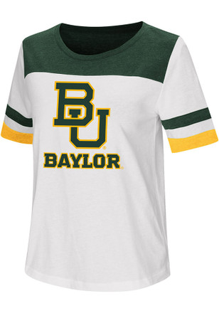 Colosseum Baylor Bears Womens White Show Me The Money T-Shirt f11e2fd46