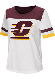 Colosseum Central Michigan Chippewas Womens White Show Me The Money T-Shirt