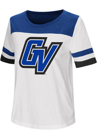Colosseum Grand Valley State Lakers Womens White Show Me The Money T-Shirt