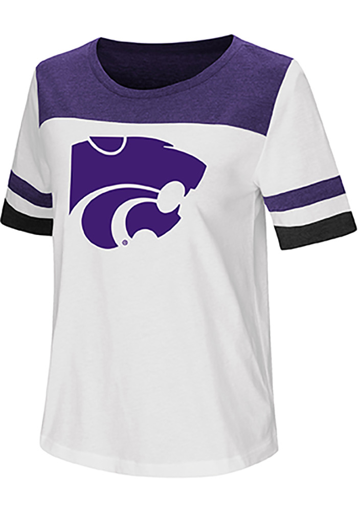 Colosseum K-State Wildcats Womens White Show Me The Money Short Sleeve T-Shirt - Image 1