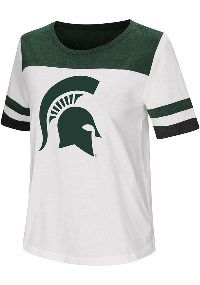 Colosseum Michigan State Spartans Womens White Show Me The Money Short Sleeve T-Shirt - Image 1
