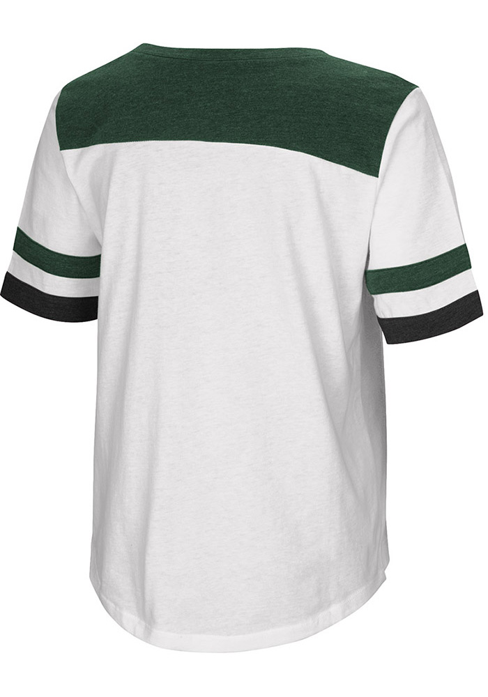 Colosseum Michigan State Spartans Womens White Show Me The Money Short Sleeve T-Shirt - Image 2