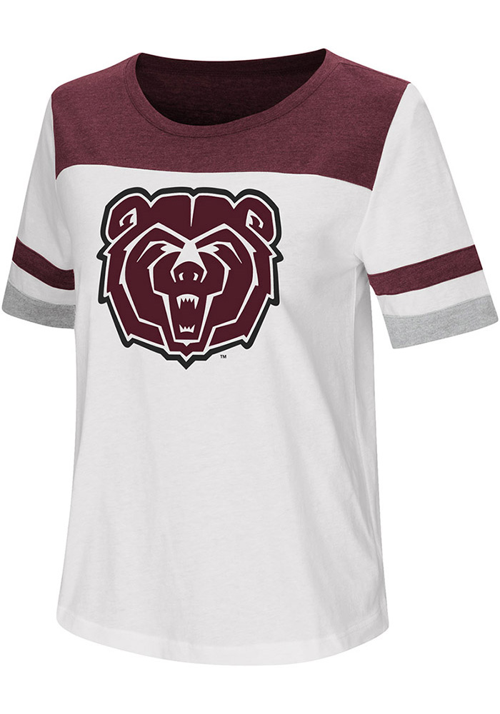 Colosseum Missouri State Bears Womens White Show Me The Money T-Shirt