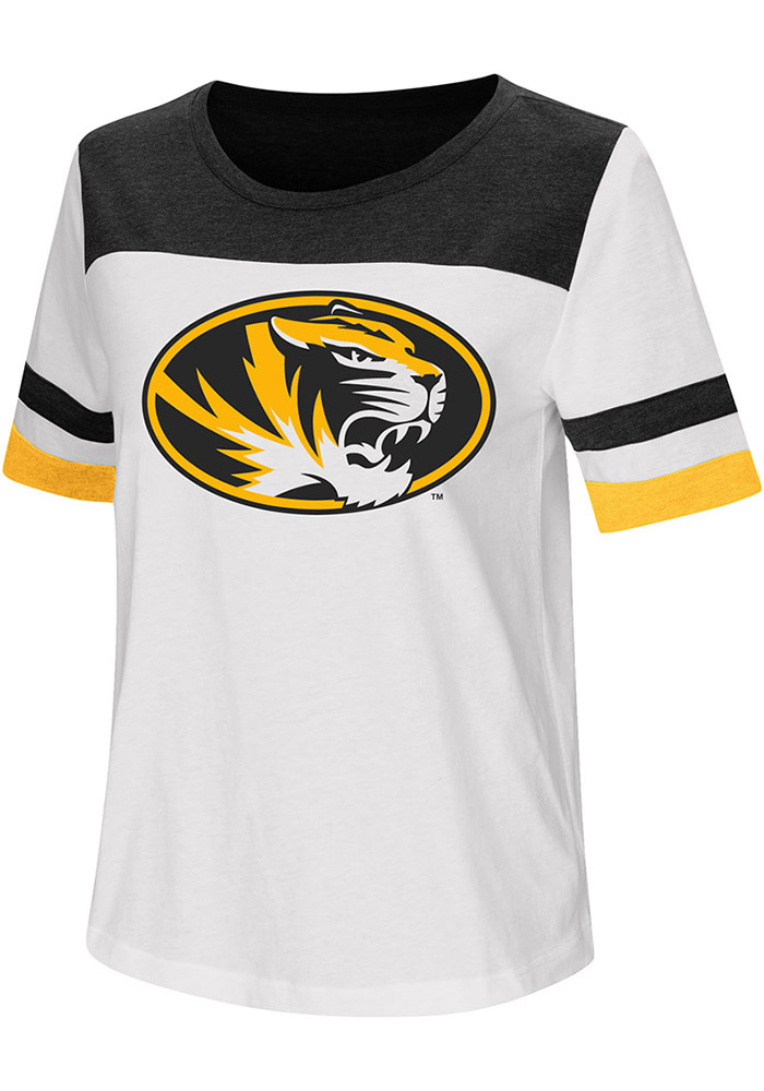 Colosseum Missouri Tigers Womens White Show Me The Money T-Shirt
