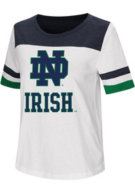 Colosseum Notre Dame Fighting Irish Womens White Show Me The Money T-Shirt