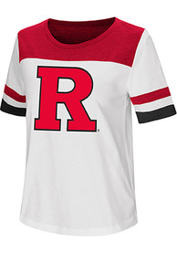 Colosseum Rutgers Scarlet Knights Womens White Show Me The Money T-Shirt