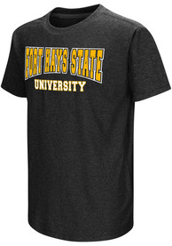 Colosseum Fort Hays State Tigers Youth Black Graham T-Shirt