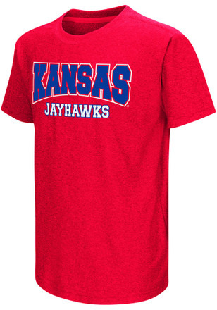 Colosseum Kansas Jayhawks Kids Red Graham T-Shirt