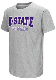 Colosseum K-State Wildcats Youth Grey Graham T-Shirt
