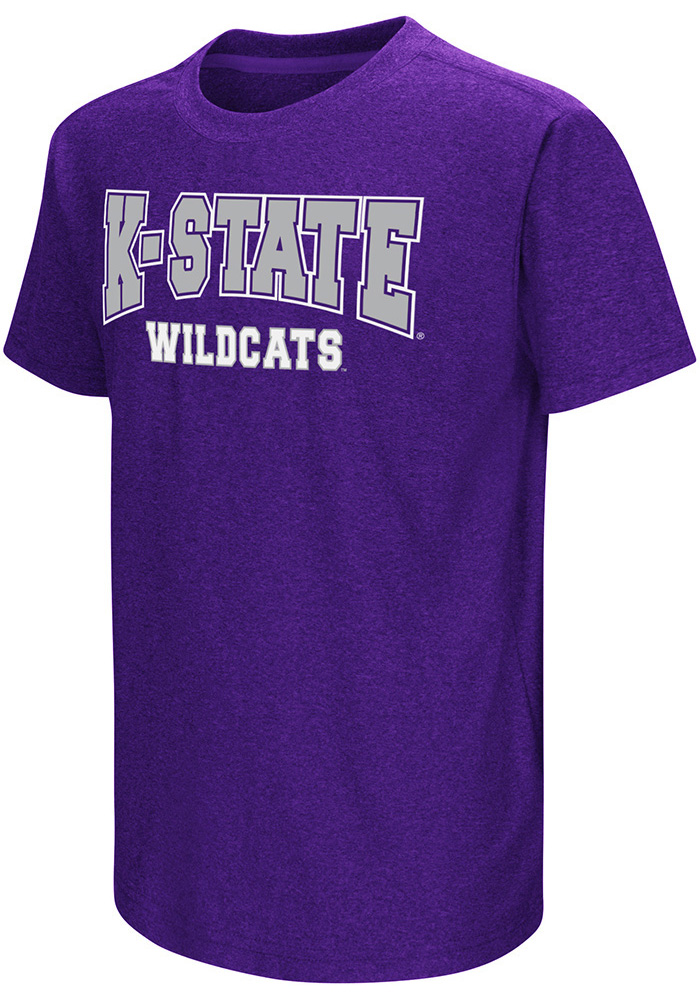 Colosseum K-State Wildcats Youth Purple Graham Short Sleeve T-Shirt - Image 1