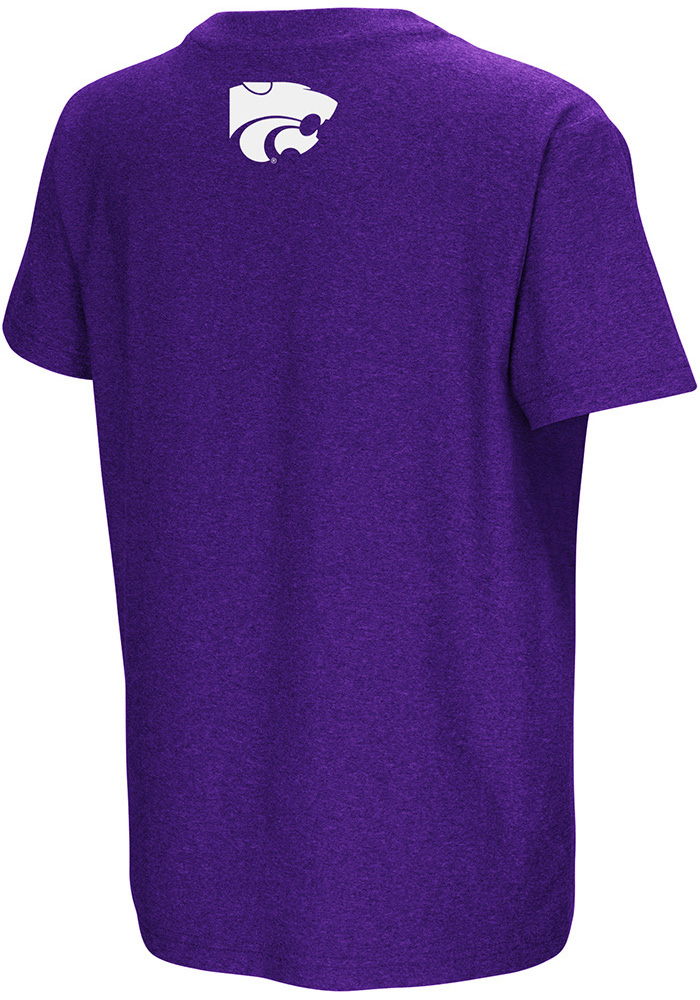 Colosseum K-State Wildcats Youth Purple Graham Short Sleeve T-Shirt - Image 2