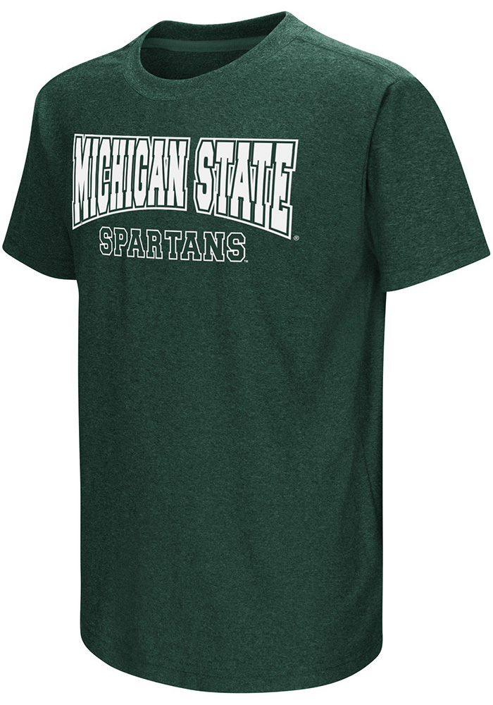 Colosseum Michigan State Spartans Youth Green Graham Short Sleeve T-Shirt - Image 1
