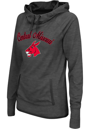 Colosseum Central Missouri Mules Womens Grey Buggin' Cowl Hoodie