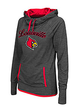 Colosseum Louisville Cardinals Womens Grey Buggin' Cowl Hoodie