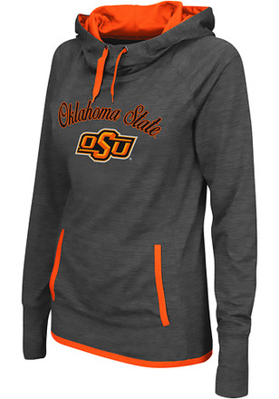 Colosseum Oklahoma State Cowboys Womens Grey Buggin' Cowl Hoodie