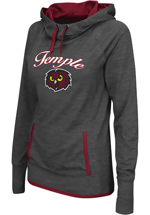 Colosseum Temple Owls Womens Grey Buggin' Cowl Hoodie