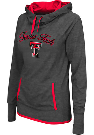 Colosseum Texas Tech Red Raiders Womens Grey Buggin' Cowl Hoodie
