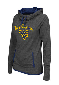 West Virginia Mountaineers Womens Colosseum Buggin Cowl Hooded Sweatshirt - Charcoal