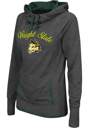 Colosseum Wright State Raiders Womens Grey Buggin' Cowl Hoodie