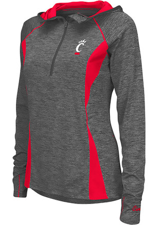 Colosseum Cincinnati Bearcats Womens Monet Grey 1/4 Zip Pullover