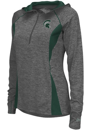 Colosseum Michigan State Spartans Womens Monet Grey 1/4 Zip Pullover
