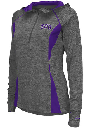 Colosseum TCU Horned Frogs Womens Monet Grey 1/4 Zip Pullover