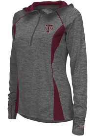 Texas A&M Aggies Womens Colosseum Monet 1/4 Zip Pullover - Charcoal