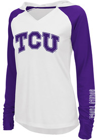 Colosseum TCU Horned Frogs Womens White Cher Hoodie