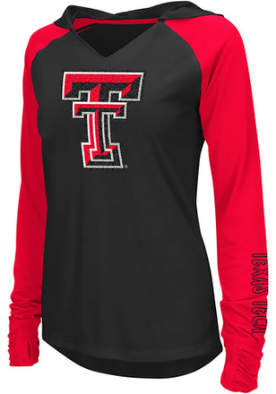 Colosseum Texas Tech Red Raiders Womens White Cher Hoodie