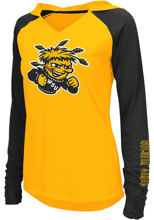 Colosseum Wichita State Shockers Womens Gold Cher Hoodie