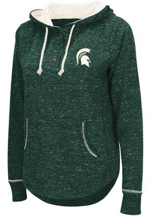 Colosseum Michigan State Spartans Womens Green Sunset Hoodie