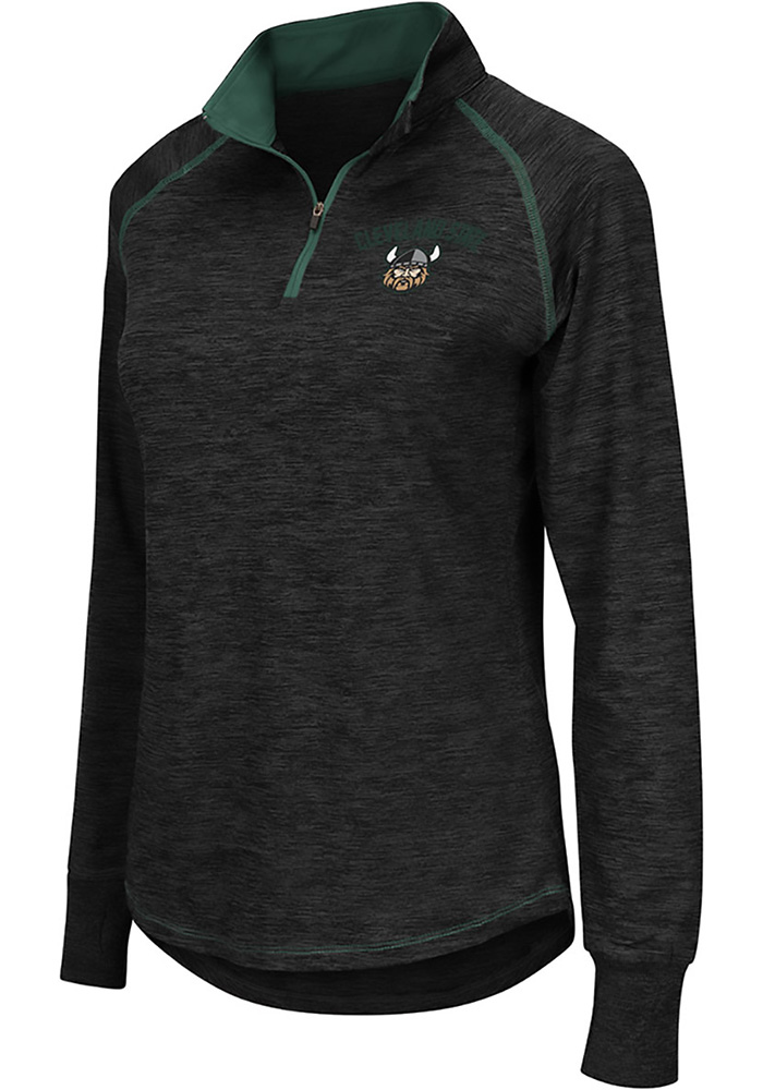 Colosseum Cleveland State Vikings Womens Bikram Grey 1/4 Zip Pullover