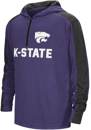 Colosseum K-State Wildcats Kids Hotshot Purple Quarter Zip Shirt