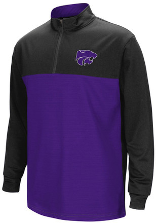Colosseum K-State Wildcats Kids Setter Purple Quarter Zip Shirt