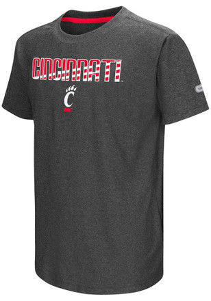 Colosseum Cincinnati Bearcats Kids Grey Hat Trick T-Shirt