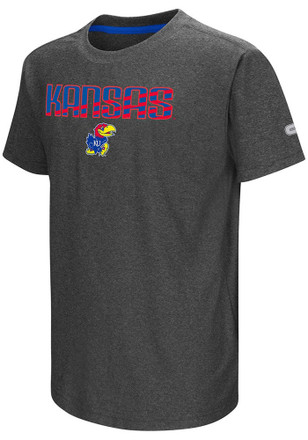 Colosseum Kansas Jayhawks Kids Grey Hat Trick T-Shirt