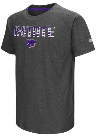 Colosseum K-State Wildcats Kids Grey Hat Trick T-Shirt