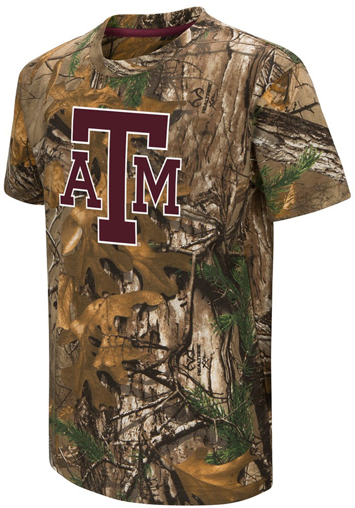 Colosseum Texas A&M Aggies Youth Green Realtree Short Sleeve T-Shirt - Image 1