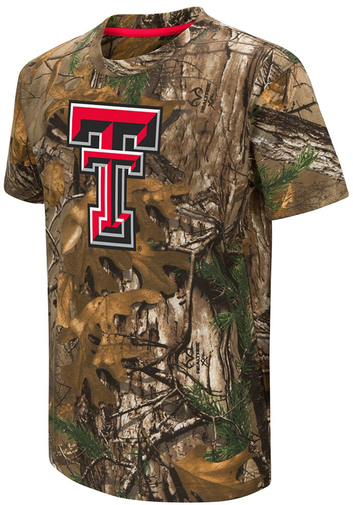 Colosseum Texas Tech Red Raiders Youth Green Realtree Short Sleeve T-Shirt - Image 1