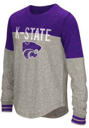 Colosseum K-State Wildcats Girls Purple Baton Long Sleeve T-shirt