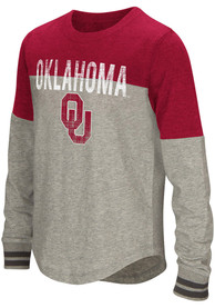 Oklahoma Sooners Girls Colosseum Baton Long Sleeve T-shirt - Crimson