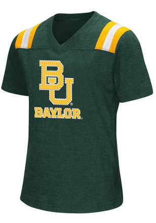 Colosseum Baylor Bears Girls Green Rugby Fashion T-Shirt