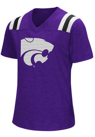 Colosseum K-State Wildcats Girls Purple Rugby Fashion T-Shirt