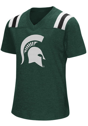 Colosseum Michigan State Spartans Girls Green Rugby Fashion T-Shirt