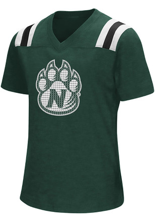 Colosseum Northwest Missouri State Bearcats Girls Green Rugby Fashion T-Shirt