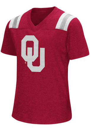 Colosseum Oklahoma Girls Red Rugby Fashion T-Shirt