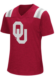 Oklahoma Sooners Girls Colosseum Rugby Fashion T-Shirt - Crimson
